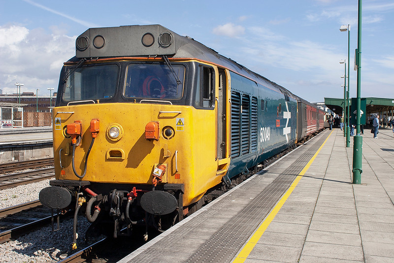 50049 Cardiff Central 14/4/2006<br /> 1Z48 1153 Crewe-Cardiff Central