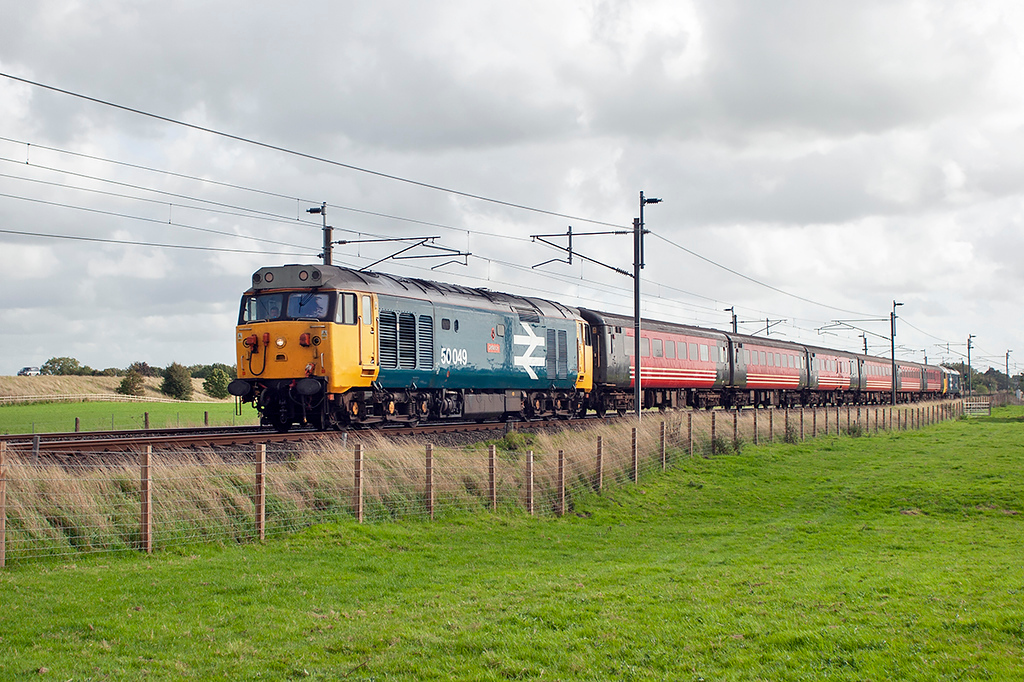 50049 and 50031, Brock 19/9/2006<br /> 5Z50 1000 Cardiff Canton-Carnforth