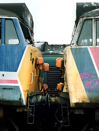 50026 and 50045, Rotherham 29/2/1992