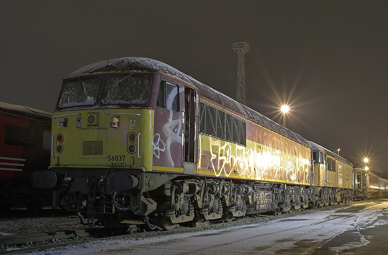 56037 and 56077, Crewe 17/1/2013