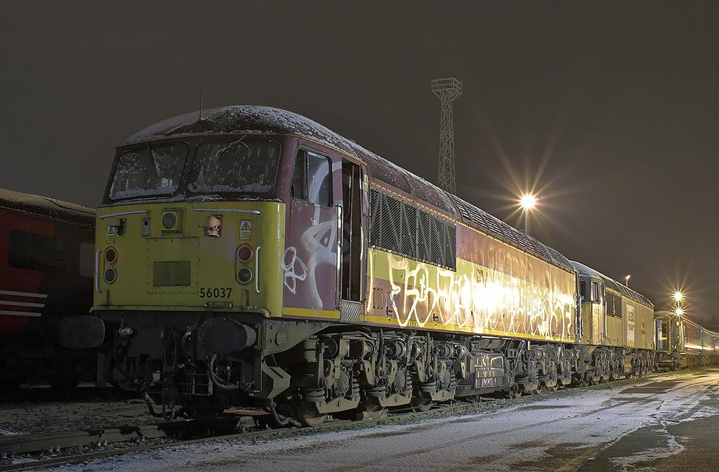 56037 and 56077, Crewe 17/1/2013