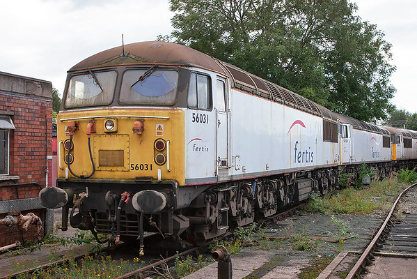 56031 and 56106, Crewe 28/8/2011