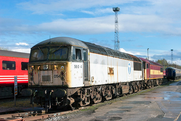 56054 and 56067, Crewe 3/4/2011