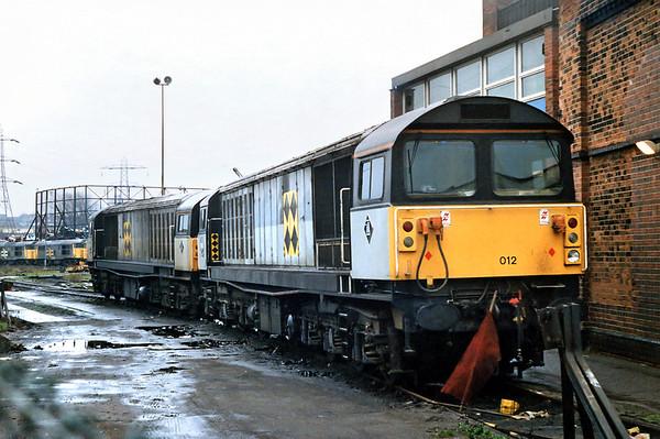 58012 and 58005, Saltley TMD 7/3/1992