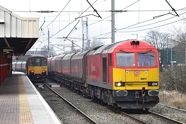 60011 Warrington Bank Quay 26/2/2013 6F81 0914 Liverpool Bulk Terminal-Fiddlers Ferry PS