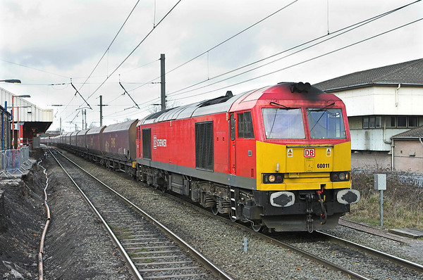 60011 Warrington Bank Quay 10/3/2011 6F74 1211 Liverpool Bulk Terminal-Fiddlers Ferry PS