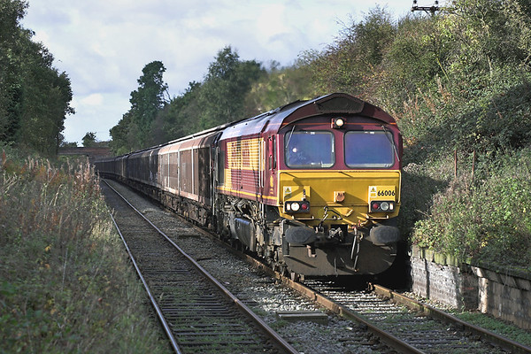 66006 Upholland 20/10/2005 6E33 1053 Knowsley-Immingham Dock