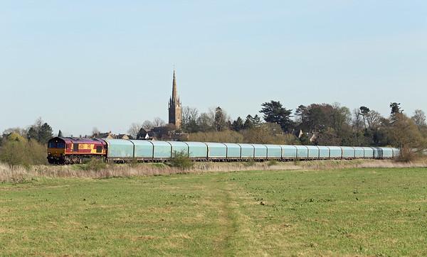 66006 Kings Sutton 14/4/2015 4M52 1132 Southmapton Eastern Docks-Castle Bromwich