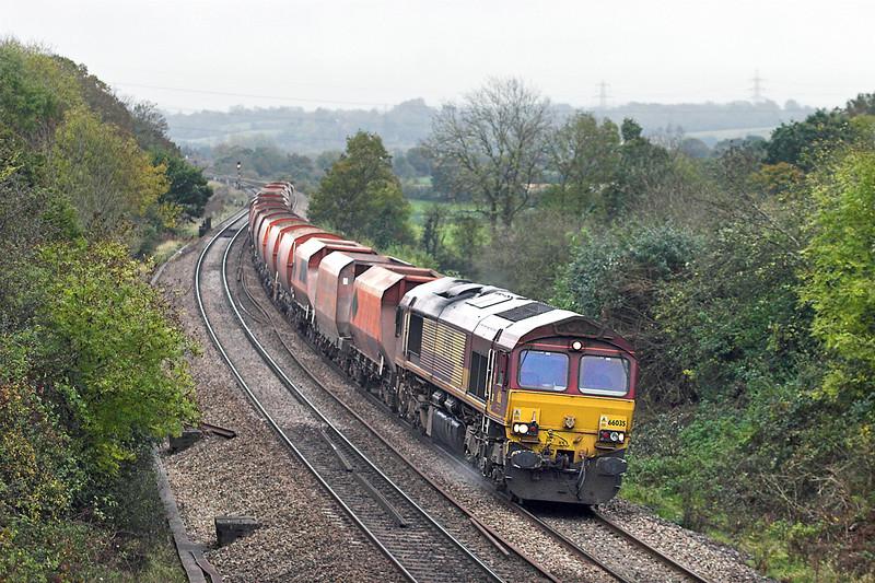 66035 Ram Hill 25/10/2012<br /> 6Z16 0916 Hothfield-Moreton on Lugg 25/10/2012