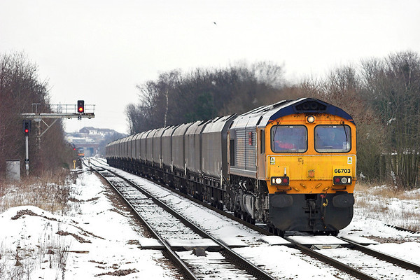 66703 Pontefract Monkhill 25/1/2013 4N46 1315 Ferrybridge PS-Tyne Dock