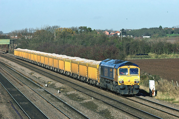 66707 Cossington 23/11/2012 6L24 1034 Mountsorrel-Whitemoor Yard