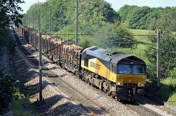 66847 Charnock Richard 23/6/2014 6J37 1202 Carlisle Yard-Chirk