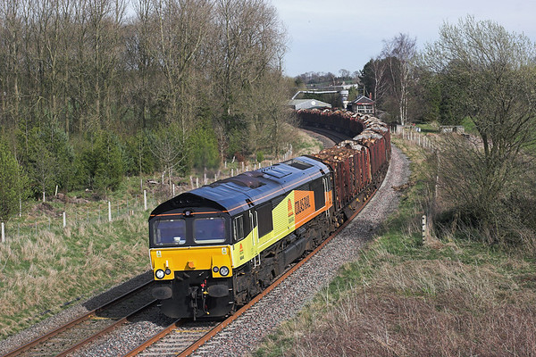 66845 Gisburn 6/4/2011 6J37 1229 Carlisle Yard-Chirk