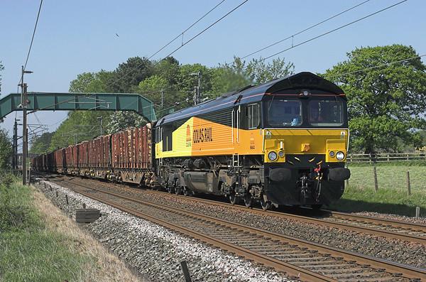66843 Brock 24/5/2010 6J37 1251 Carlisle Yard-Chirk