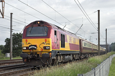 67001 Farington Junction 14/6/2008 1Z80 0712 Preston-Carlisle  (via Manchester Victoria, Wakefield, Skipton)