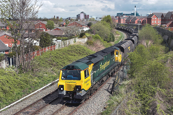 70006 Sankey Bridges 19/4/2012 6F02 1207 Ellesmere Port-Fiddlers Ferry PS