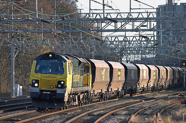 70002 Rugeley Trent Valley 28/11/2012 4Z68 1149 Ratcliffe PS-Basford Hall