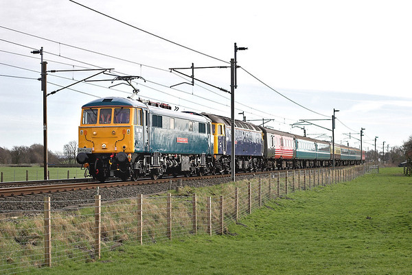 86101 and 47839, Brock 21/3/2007 5Z86 1400 Crewe CS-Carnforth