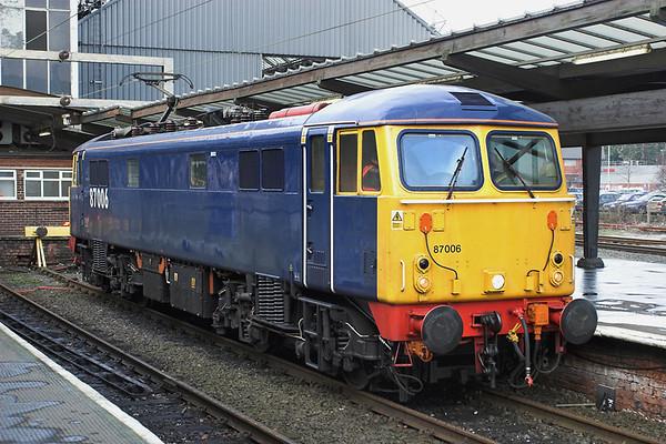 87006 Preston 13/2/2006 0Z87 1506 Warrington RMT-Warrington RMT (via Preston)