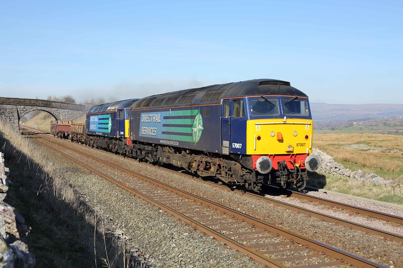57007 and 57003, Greengate 11/3/2014<br /> 6K05 1246 Carlisle Yard-Basford Hall