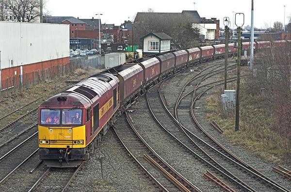 60096 Warrington Arpley Junction 5/2/2010 6F78 1210 Fiddlers Ferry PS-Liverpool Bulk Terminal