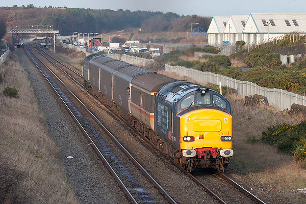 37610 and 47501, Derwent Junction 10/12/2009 2Z31 1400 Maryport-Workington
