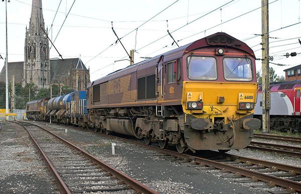 66180 and 66143, Preston 14/10/2006