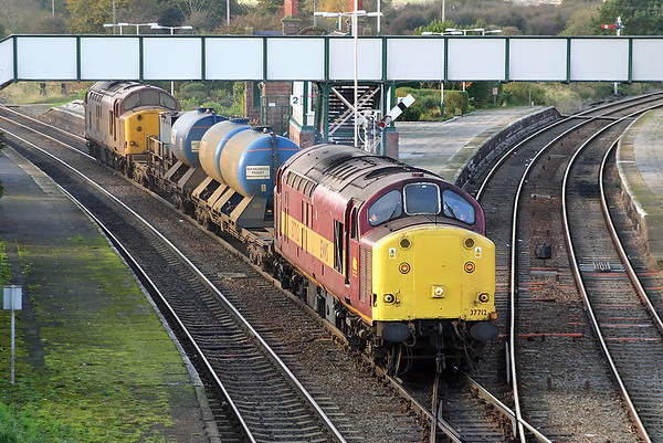 37712 and 37706, Helsby 26/10/2004