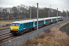 82306 and 67001, Winwick Junction 3/4/2015<br /> 1H89 1301 Holyhead-Manchester Piccadilly