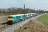 82306 and 67001, Winwick Junction 20/4/2015<br /> 1H89 1301 Holyhead-Manchester Piccadilly