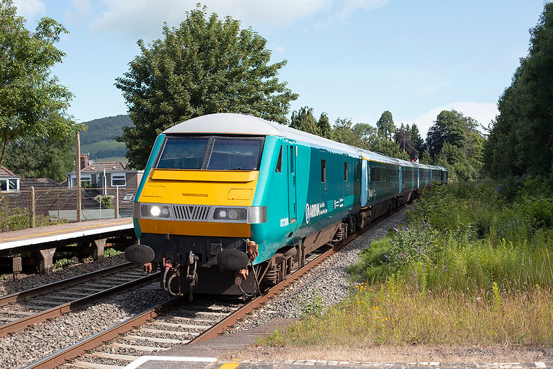 82308 and 67003, Abergavenny 11/7/2014<br /> 1V91 0533 Holyhead-Cardiff Central