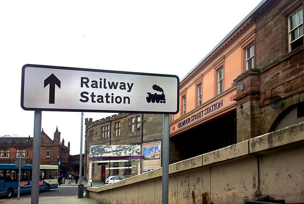 Station sign, Paisley Gilmour Street 23/3/2012