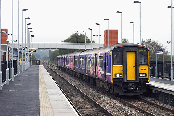 150274 and 150203, Buckshaw Parkway 3/10/2011 2N99 0922 Manchester Victoria-Blackpool North