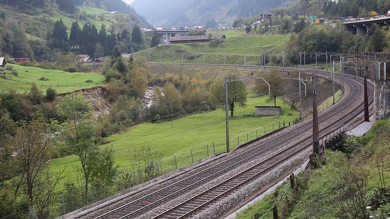 SWITZERLAND: 11194 Wassen 2/10/2014, IR2184 1547 Locarno-Basel SBB