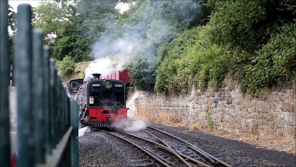 West Highland Railway NG/G16-87 departing Caernarfon with the 1320 to Porthmadog