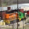 BNSF Locomotive No. 3418 (EMD SW1500) at Carrollton Yard, Carrollton TX