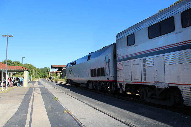 Amtrak Texas Eagle Northbound Train No. 22 at Austin Station - GE P42DC Locomotive No. 11