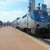 Amtrak Texas Eagle Train No. 21 at  Dallas Union Station - GE P42DC Locomotive No. 77 (s/n 49615)