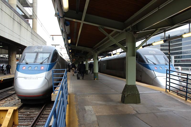 Amtrak Acela Power Units No. 2018 and No. 2028 at Washington DC Union Station