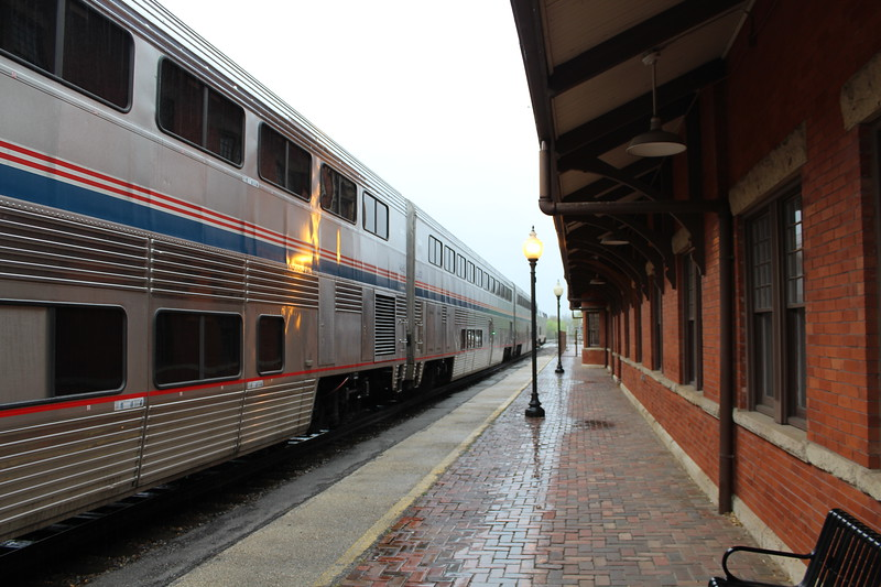 Amtrak Heartland Flyer, Service 821 at Gainesville Station, TX