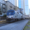 Amtrak Texas Eagle Northbound Train No. 22 approaches Austin Station - GE P42DC Locomotive No. 11