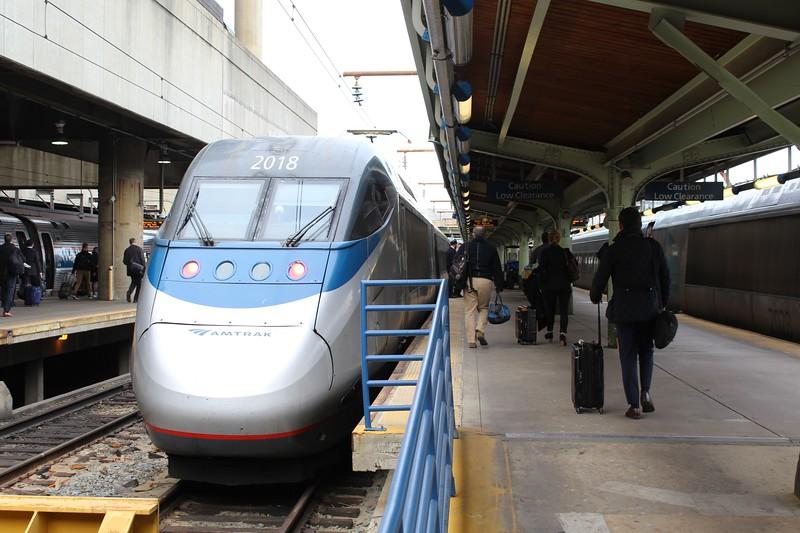 Amtrak Acela Power Unit No. 2018 at Washington DC Union Station