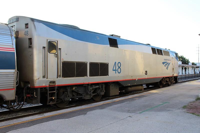 Amtrak Silver Star Train No. 92 at Orlando Station - GE P42DC Locomotive No. 48