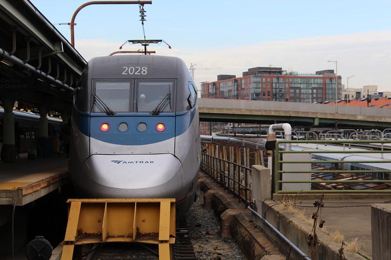 Amtrak Acela Power Unit No. 2028 at Washington DC Union Station