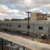 Preserved Santa Fe Railroad Sleeper Car No. 1637 Pine Mesa at Temple station