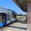 Denton County Transportation Authority (DCTA) Stadler GTW 2/6 DMU at Lewisville Old Town Station