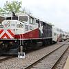 Trinity Railway Express (TRE) EMD F59PH Locomotive No. 122 at Dallas Union Station