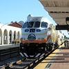 SunRail MPI locomotive MP36PH-3S No. 105 at Orlando Health Station