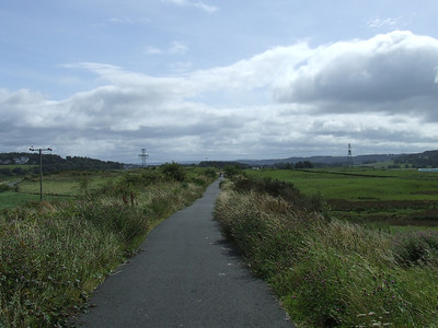 Looking east along the trackbed towards Kilmacolm, giving an idea of how bleak this stretch of line could be.