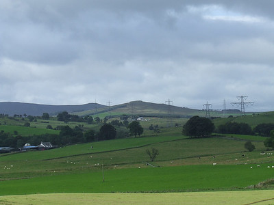 Looking North over the farmland from the trackbed near West Kilbride Farm, near Port Glasgow
